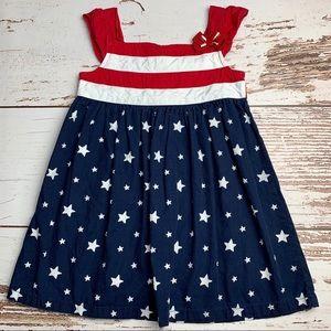 GYMBOREE Red White & Blue Stars & Stripes Dress 2T